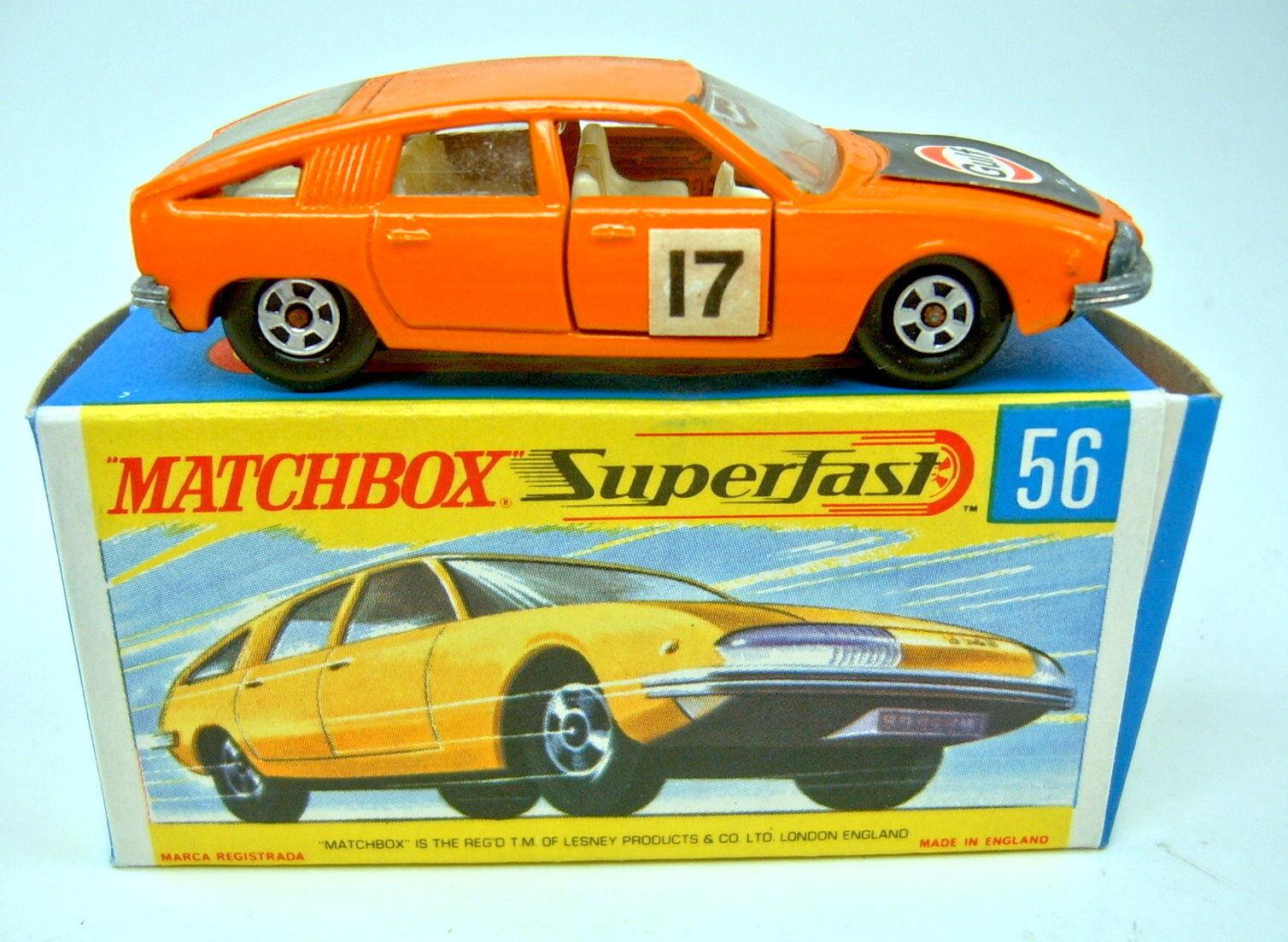 Matchbox SF SF SF Nr.56A BMC Pininfarina orange  Gulf+17  Aufkleber in Box f811e6