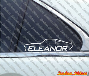 2x Eleanor Muscle Car Stickers For Ford Mustang Shelby Gt500 E Ebay
