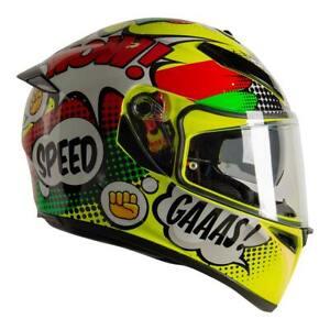Agv 2020 K3 Sv S Wow Yellow Full Face Motorcycle Helmet Uk Exclusive Ebay