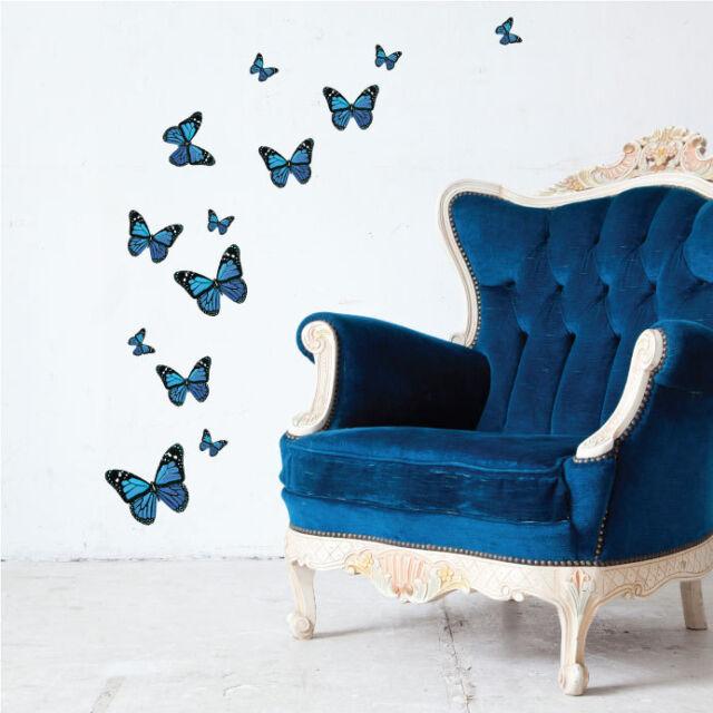 Colourful Butterfly Vinyl Wall Art Stickers, Butterflies Wall Decals, Wall Art