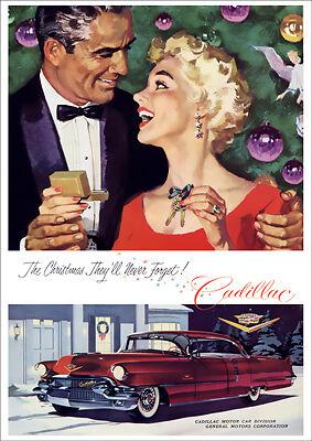 1955 CADILLAC SEDAN DE VILLE RETRO A3 POSTER PRINT FROM ADVERT 1955