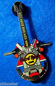 Londres-Hogs-Around-The-Duro-Roca-Harley-Duenos-Grupo-Guitar-Hard-Rock-Cafe-Pin