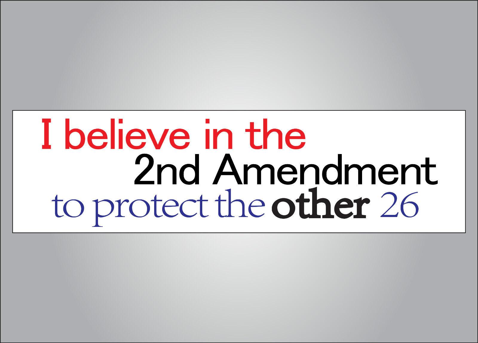 "/""BANNED GUNS/"" 2nd Amendment BUMPER STICKER decal GUN RIGHTS pro NRA Anti Hillary"