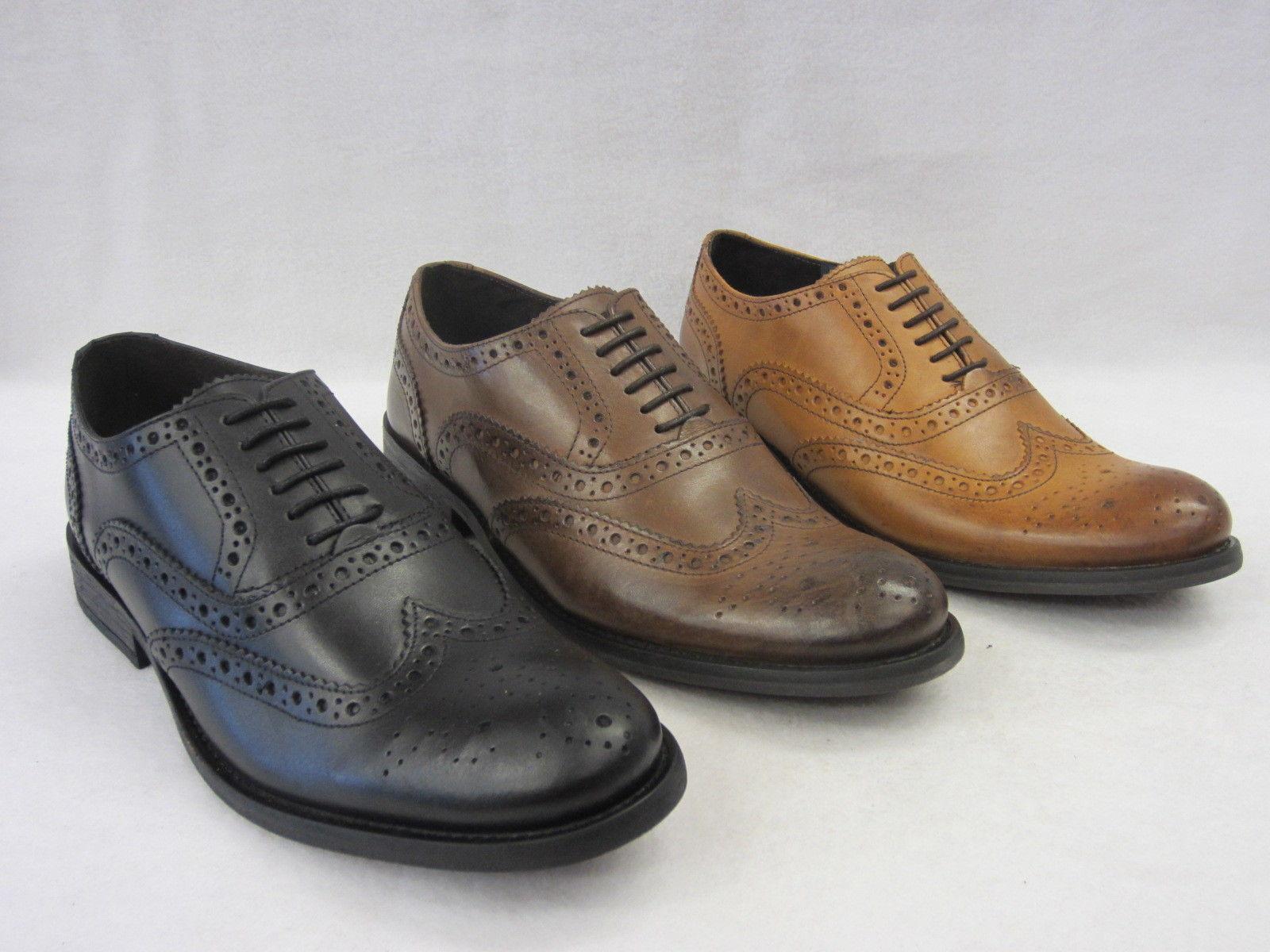 Base London Noix MTO Hommes Chaussures À Lacets noir lustré,Brun/Bronzage