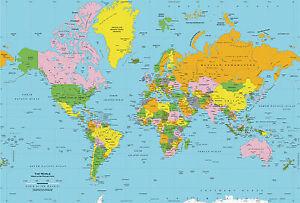 World map globe a4 edible icing sheet ebay image is loading world map globe a4 edible icing sheet gumiabroncs Images