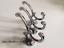 Double crochet fer antique Modern Vintage Argent Chromé Addison Set 3