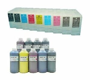 9-Cartridges-for-Epson-Stylus-per-3800-3880-250ml-Refill-INK-System-refillable