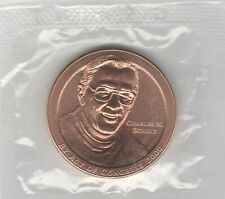 Bronze Medal of CHARLES M SCHULZ Peanuts; Charlie Brown Lucy Linus Snoopy Mint