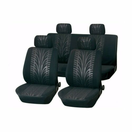 Black Motorsport Seat Covers Protectors Smart Forfour 2004-2018 Grey
