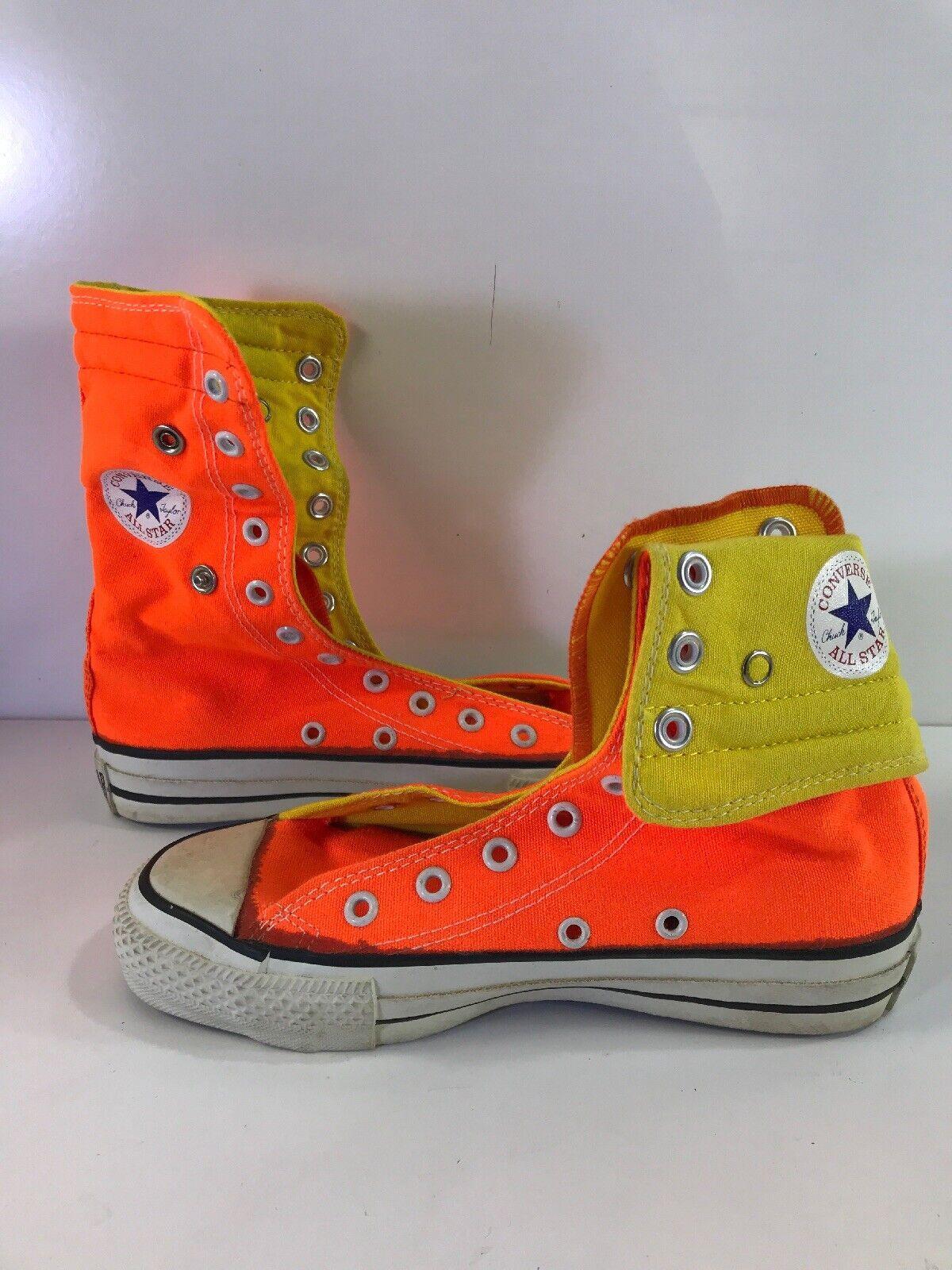 marchi di moda Vintage Vintage Vintage Converse All Star Chuck Taylor High Tops arancia Dimensione 3 Made In USA  prezzo ragionevole