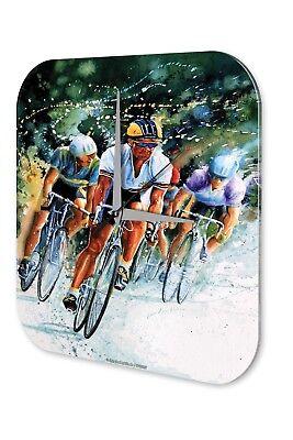 Affidabile Orologio Da Parete Muro Fun Decorazione Orologio Ciclisti Persecuzione Acrilico Orologio Vintage-mostra Il Titolo Originale