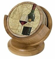 Thirstystone Pedestal Coaster Holder, Bamboo, New, Free Shipping on sale