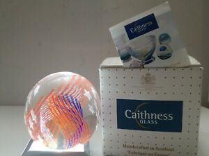 Caithness-Stars-And-Stripes-Paperweight-With-Box-Signed-Numbered-Tag