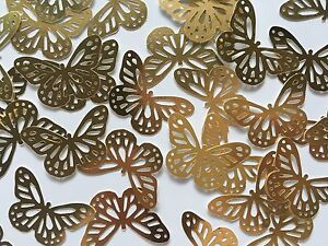 Martha Stewart Butterfly Punch Scrapbooking 30 Pcs Gold Cardstock Confetti