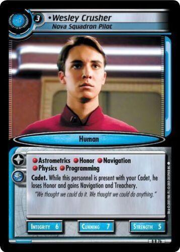 Star Trek CCG 2E TBG To Boldly Go Wesley Crusher Nova Squadron Pilot 8R76