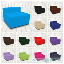 Cotton Twill Z Bed Single Size Fold Out Chairbed Chair Foam Folding Guest Sofa