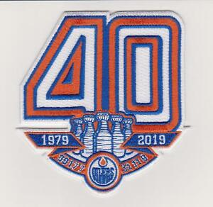 online store 7a2c8 1080b Details about Edmonton Oilers 40th Anniversary Jersey patch Rare