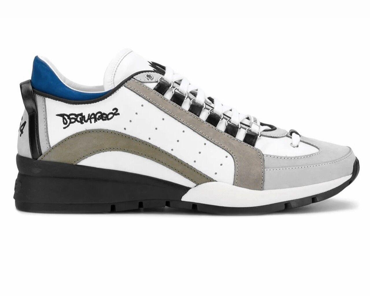 DsquaROT2 551 Sneakers Snm0404 M1475 Leder DsquaROT Herren Turnschuhe Weiß