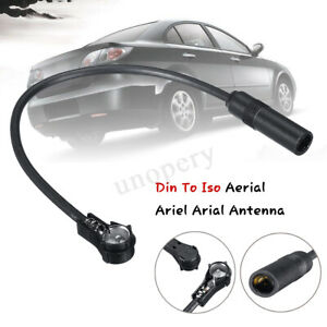 Car-Radio-Stereo-Din-To-Iso-Aerial-Ariel-Arial-Antenna-Extension-Adapter-Cable