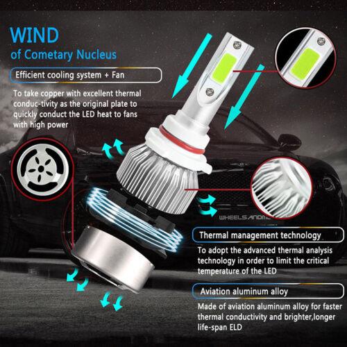 9005 9006 Ice Blue LED Headlight Kit Bulbs 12000lm For Chrysler 300C 05-10 8000K
