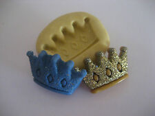 Gold crown 23mm prince king Flexible silicone mold for chocolate fondant clay