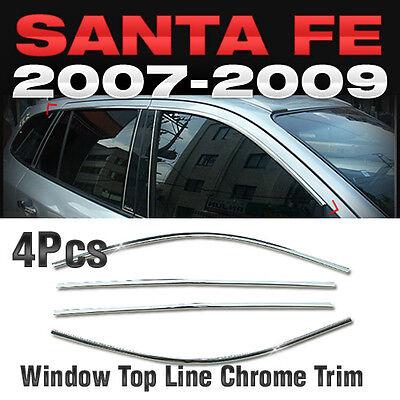 Chrome Window Accent Molding 4P Set A871 Kit For HYUNDAI 2007 2008 2009 Santa Fe