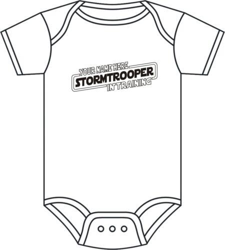 Star Wars Personnalisé Babygrow Stormtrooper Babygrow 0-12 mois clone wars