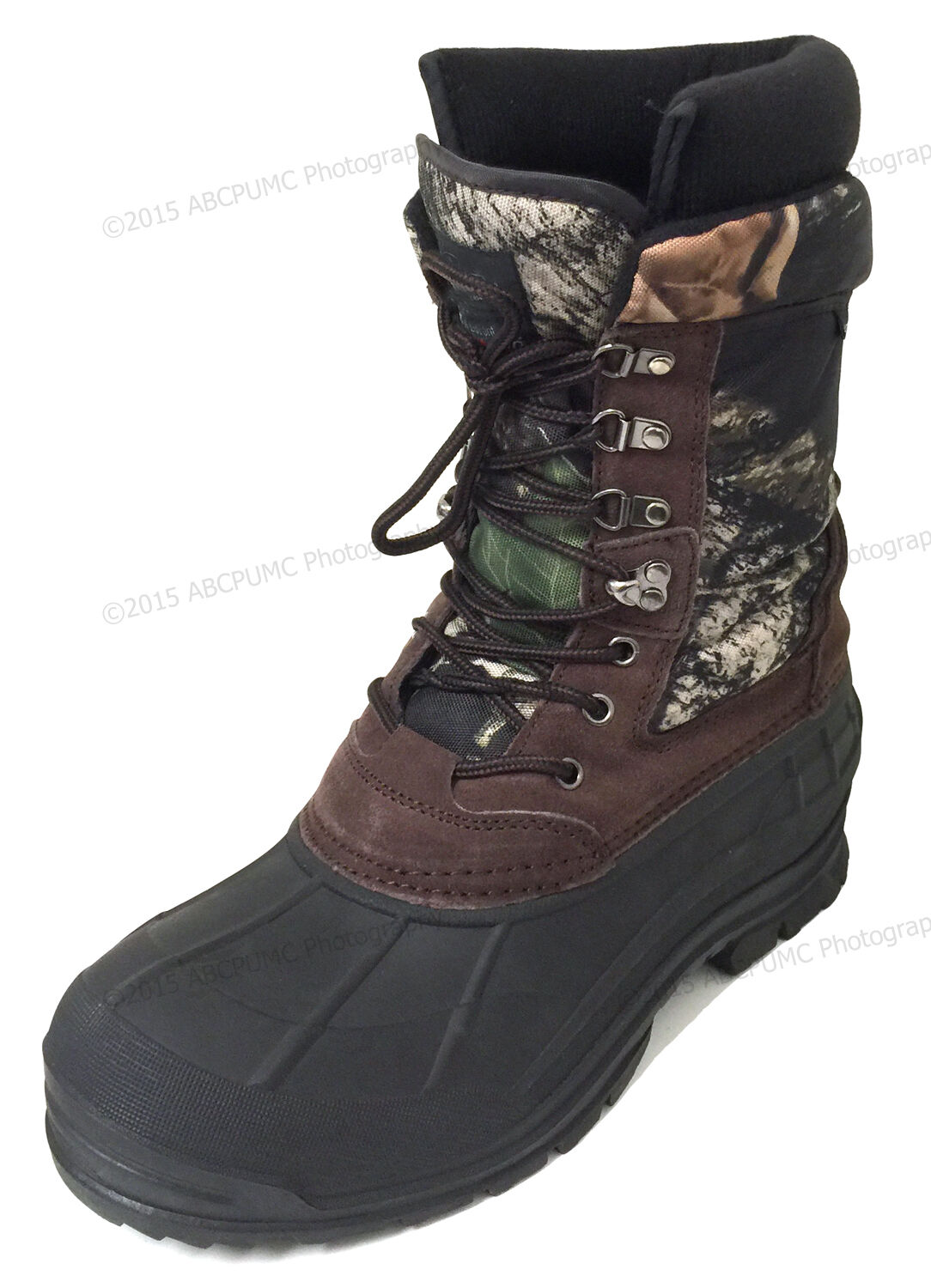 Mens Winter Snow Boots Camouflage 10  Leather Waterproof Insulated Hunting shoes
