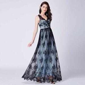 asos abendkleid lang spitze blau hellblau schwarz 38 neu  ebay