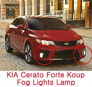fog lights lamp assembly cover wiring fits kia 2010 2013. Black Bedroom Furniture Sets. Home Design Ideas