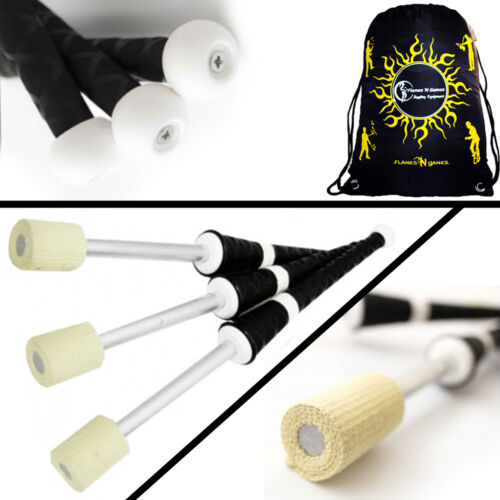 Bag Set of 3 Professional Torches PLAY MEPHISTO Pro Fire Juggling Torch