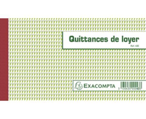 QUITTANCES DE LOYER 12,5X21CM 50 FEUILLETS TRIPLI AUTOCOPIANTS EXACOMPTA