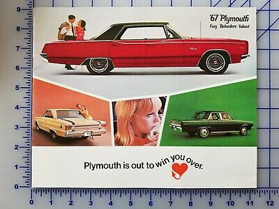 1967 Plymouth  Barracuda Fury Belvedere Valiant Vintage Dealer Sales Brochure