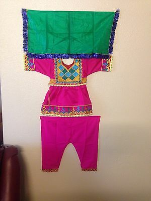 Afghan Traditional Costume Girl/'s Dress 3pcs party wear dress