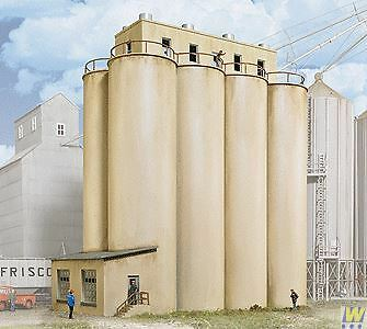 WALTHERS CORNERSTONE HO SCALE 1/87 HEAD HOUSE WITH SILOS | BN | 933-2942