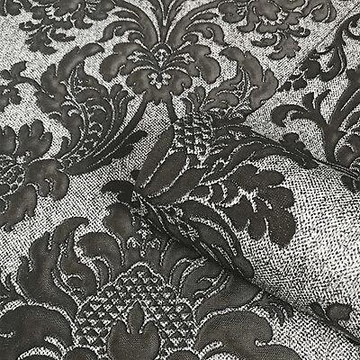 Arthouse Illusions Foil Damask Silver//Black Wallpaper 294401