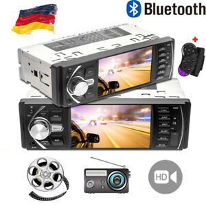 autoradio mit bildschirm display video monitor bluetooth freisprech usb 1din dhl ebay. Black Bedroom Furniture Sets. Home Design Ideas