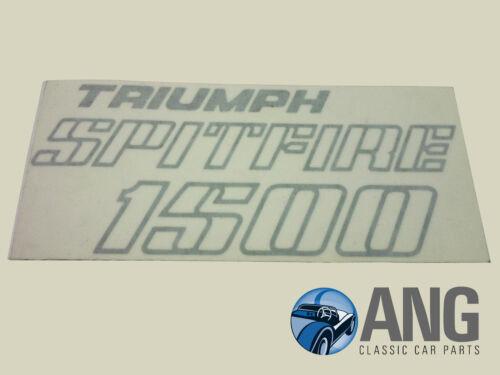 TRIUMPH Spitfire 1500 Arranque Tapa Decal Sticker En Plata YKC1457
