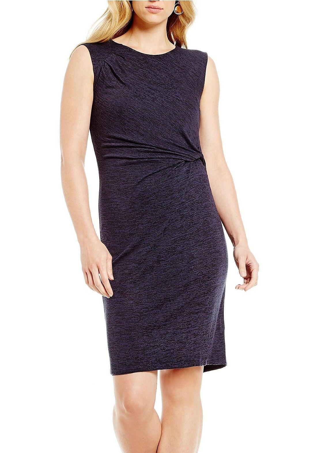 NWT MSRP  148 - ZOZO Medley Knit Twist Dress, Sleeveless, Japanese purple