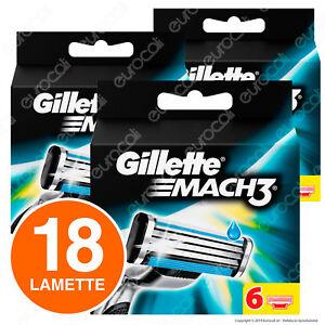 Gillette-Mach3-3-Pacchi-di-Ricarica-da-6-Testine-per-Tutti-i-Rasoi-Mach3-18-Lame