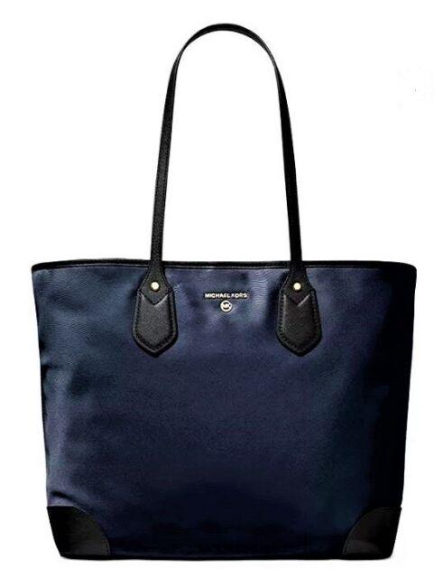 NWT💎Michael Kors Eva X-Large Nylon CarryAll Tote w\Detachable Pouch, Navy Blue