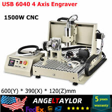 Usb 6040 4 Axis Engraver 1500w 3d Cnc Router Engraving Machine Drill Mill New