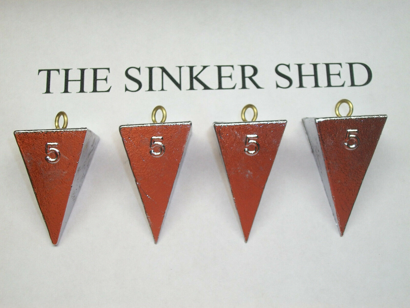 5 oz pyramid sinkers - choose quantity  6 12 25 50 100 - FREE SHIPPING  find your favorite here