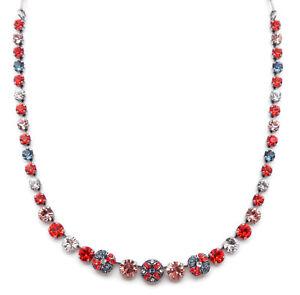 8875242c5 Image is loading MARIANA-Gelato-117-Swarovski-Crystal-Silver-Necklace-Red-
