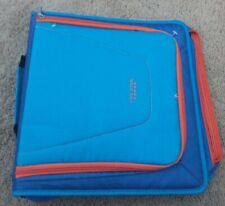 "Blue Orange Color Five Star 2/"" Zipper Binder Built Strong 530 Sheet Capacity"