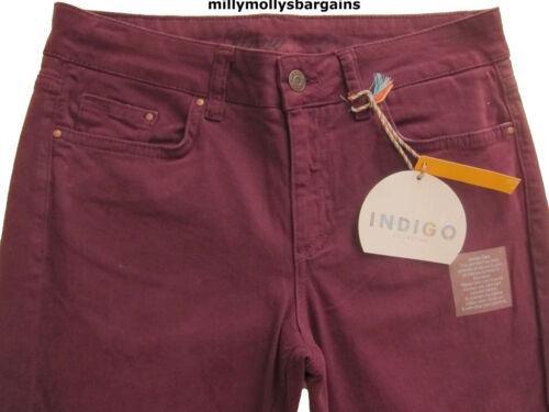 New Womens Marks /& Spencer Maroon Purple Skinny Jeans Size 10 Long Medium