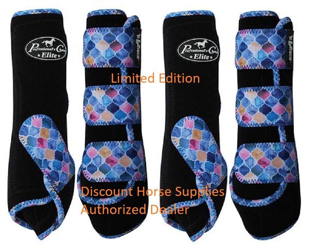 Professional's Choice Ventech Elite valor 4 Pack botas marroquí Negro L Prof Pro