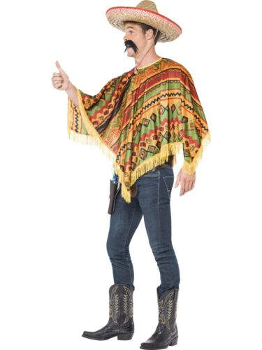 Mexican Poncho Instant Kit Mexico Outfit Adult Mens Party Wicked Fancy Dress