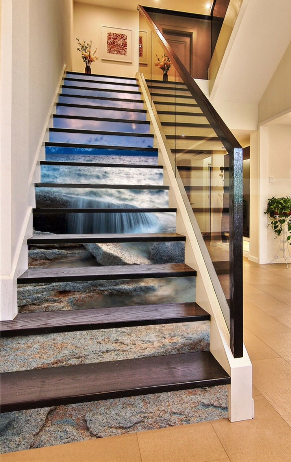 3D Bay Scenery 871 Stair Risers Decoration Photo Mural Vinyl Decal Wallpaper AU