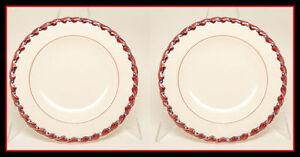 Vernon-Kilns-California-MONTEREY-Salad-Plate-Set-2-Exc
